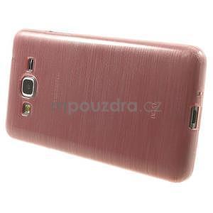 Broušený gelový obal pro Samsung Galaxy Grand Prime - růžový - 5