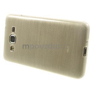 Broušený gelový obal pro Samsung Galaxy Grand Prime - zlatý - 5