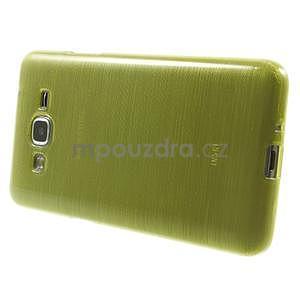 Broušený gelový obal pro Samsung Galaxy Grand Prime - zelený - 5