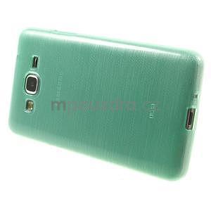 Broušený gelový obal pro Samsung Galaxy Grand Prime - cyan - 5