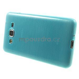 Broušený gelový obal pro Samsung Galaxy Grand Prime - tyrkysový - 5