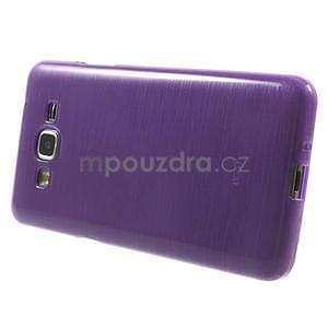 Broušený gelový obal pro Samsung Galaxy Grand Prime - fialový - 5