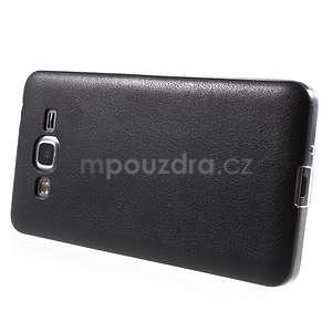 Ultratenký gelový kryt s imitací kůže na Samsung Grand Prime - černý - 5