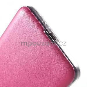 Ultratenký gelový kryt s imitací kůže na Samsung Grand Prime - rose - 5