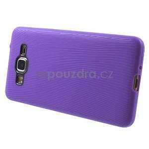 Tenký pogumovaný obal na Samsung Galaxy Grand Prime - fialový - 5