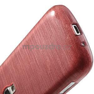 Broušený gelový kryt na Samsung Galaxy S Duos - růžový - 5