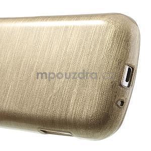 Broušený gelový kryt na Samsung Galaxy S Duos - zlatý - 5