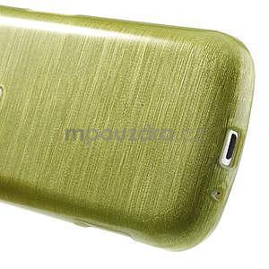 Broušený gelový kryt na Samsung Galaxy S Duos - zeleno žlutý - 5