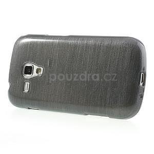 Broušený gelový kryt na Samsung Galaxy S Duos - šedý - 5