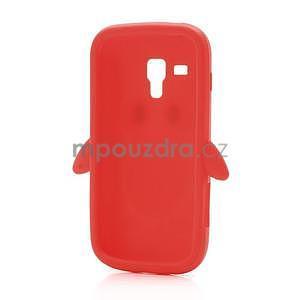 Silikonový obal tučňák na Samsung Galaxy S Duos - červený - 5
