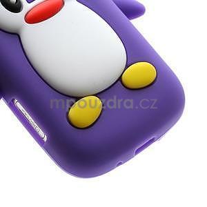 Silikonový obal tučňák na Samsung Galaxy S Duos - fialový - 5