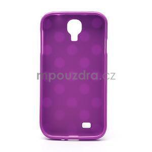 Fialový puntíkovaný obal na Samsung S4 mini - 5