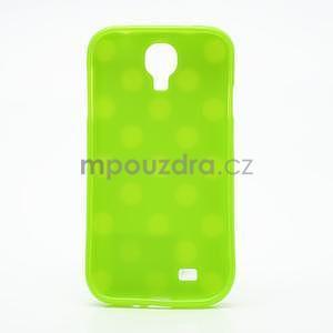 Zelený puntíkovaný obal na Samsung S4 mini - 5