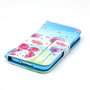 Knížkové PU kožené pouzdro na Samsung Galaxy S5 - láska - 5