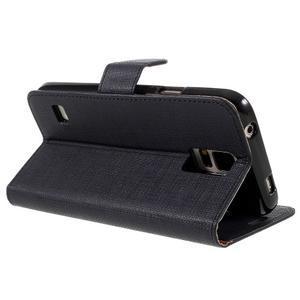 Clothy Pu kožené pouzdro na Samsung Galaxy S5 - černé - 5