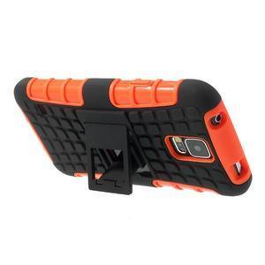 Outdoor odolný kryt na mobil Samsung Galaxy S5 - oranžový - 5