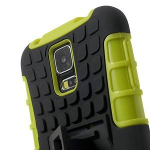 Outdoor odolný kryt na mobil Samsung Galaxy S5 - zelený - 5