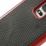 Odolný obal 2v1 na mobil Samsung Galaxy S5 - červený - 5/6