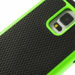 Odolný obal 2v1 na mobil Samsung Galaxy S5 - zelený - 5/6