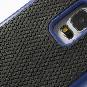 Odolný obal 2v1 na mobil Samsung Galaxy S5 - modrý - 5