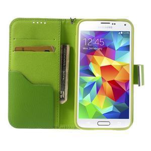 Colory PU kožené pouzdro na mobil Samsung Galaxy S5 - variant II - 5