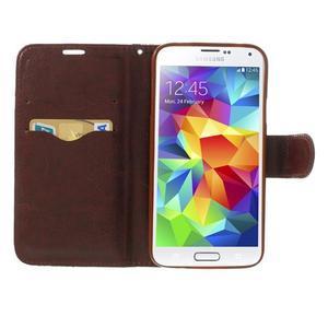 Květinové pouzdro na mobil Samsung Galaxy S5 - modré pozadí - 5