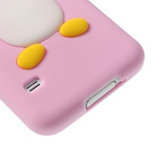 Penguin silikonový obal na Samsung Galaxy S5 - růžový - 5