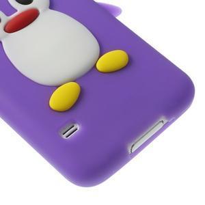 Penguin silikonový obal na Samsung Galaxy S5 - fialový - 5