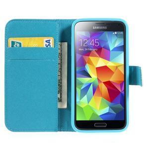 Emotive PU kožené pouzdro na Samsung Galaxy S5 mini - barevné květiny - 5