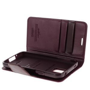 Sonata PU kožené pouzdro na Samsung Galaxy S5 mini - vínové - 5