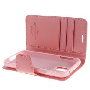 Sonata PU kožené pouzdro na Samsung Galaxy S5 mini - růžové - 5