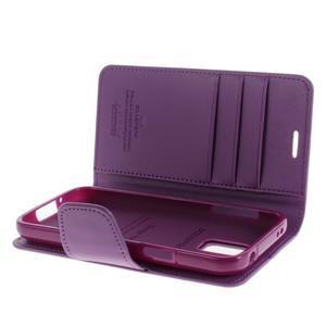 Sonata PU kožené pouzdro na Samsung Galaxy S5 mini - fialové - 5