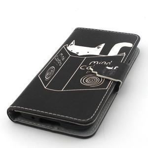 Peněženkové pouzdro na mobil Samsung Galaxy S5 mini - kniha a kočička - 5