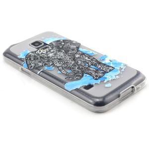Transparentní gelový obal na mobil Samsung Galaxy S5 mini - slon - 5