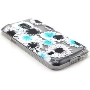 Transparentní gelový obal na mobil Samsung Galaxy S5 mini - sedmikrásky - 5