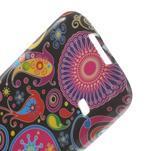 Softy gelový obal na Samsung Galaxy S5 mini - barevné kruhy - 5/5