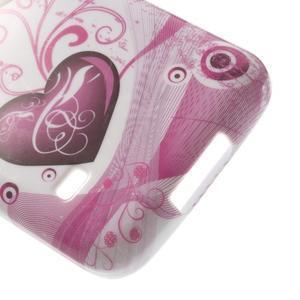 Softy gelový obal na Samsung Galaxy S5 mini - srdce - 5
