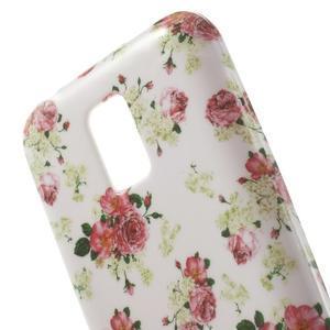 Softy gelový obal na Samsung Galaxy S5 mini - květinová koláž - 5