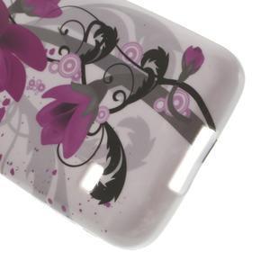 Softy gelový obal na Samsung Galaxy S5 mini - fialové květy - 5
