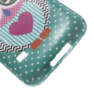 Softy gelový obal na Samsung Galaxy S5 mini - zamilovaná sova - 5