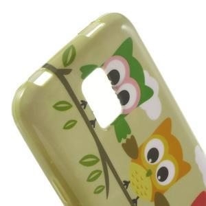 Softy gelový obal na Samsung Galaxy S5 mini - sovy na větvi - 5