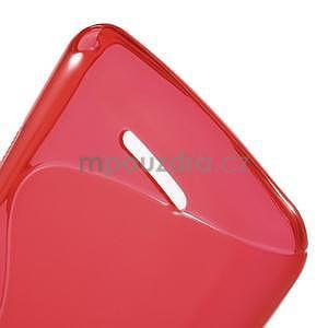 S-line gelový obal pro Sony Xperia E4g - červený - 5