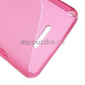 S-line gelový obal pro Sony Xperia E4g - rose - 5