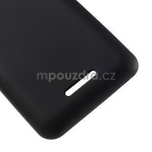 Obal z matného gelu pro Sony Xperia E4g - černý - 5