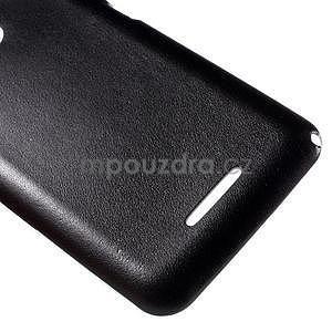 Gelový obal na Sony Xperia E4g s koženkovými zády - černý - 5