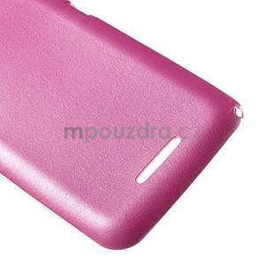 Gelový obal na Sony Xperia E4g s koženkovými zády - růžový - 5