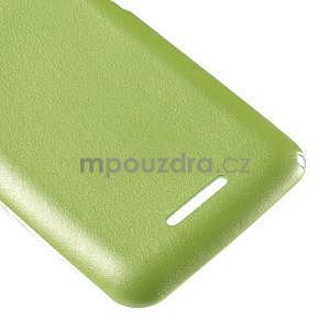 Gelový obal na Sony Xperia E4g s koženkovými zády - zelený - 5