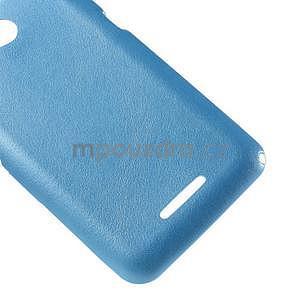 Gelový obal na Sony Xperia E4g s koženkovými zády - modrý - 5