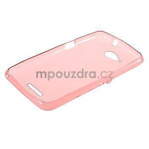 Ultra tenký gelový obal na Sony Xperia E4g - červený - 5