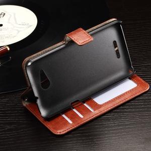 Horse PU kožené pouzdro na mobil Sony Xperia E4g - hnědé - 5